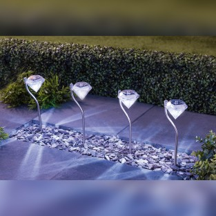 Solar Diamond Effect Lights (4 pack)
