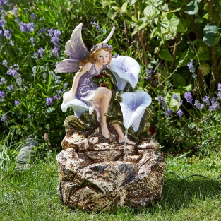 Solar Fairy Liliana Cascade Fountain
