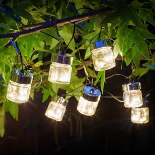 Solar Firefly Jar String Lights