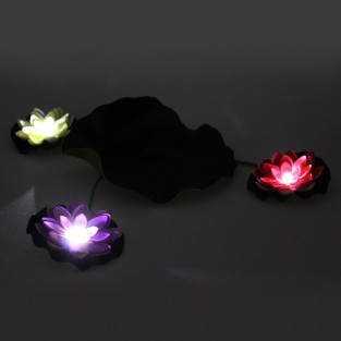 Solar Floating Lily Pad and Lotus Flowers