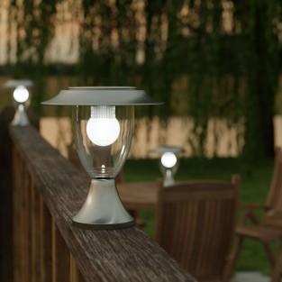 Stainless Steel Solar Henley Pillar Lantern - Fixed