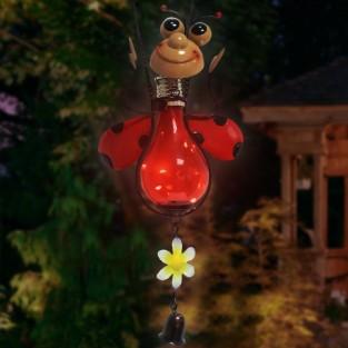 Solar Metal Garden Hanger Ladybird