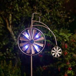 Solar Penny Farthing Wind Spinner