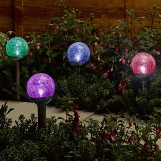 Solar Rainbow Glass Stake Lights (4 pack)