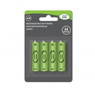 Solar AA 600mAh Batteries x 4