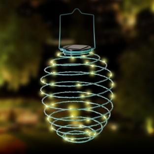 Solar Spiral Lantern - Blue