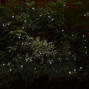 100 Cool White LED Solar Fairy Lights