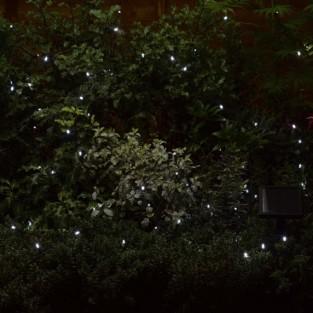100 Cool White LED Solar Fairy Lights