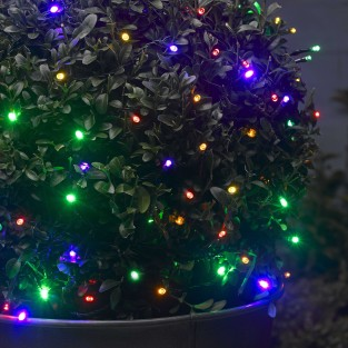 Solar Multi Coloured Fairy Lights 50 LED