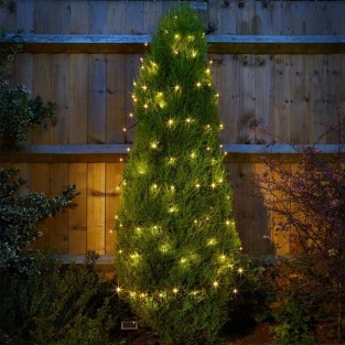 100 Warm White LED Solar Fairy Lights