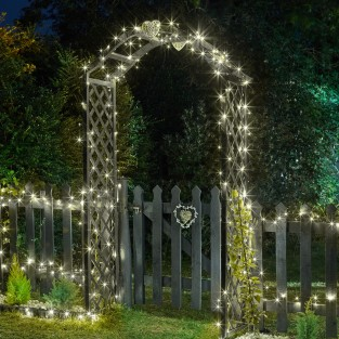 200 LED Warm White Solar String Lights
