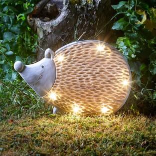 Solar Woodstone Inlit Hedgehog