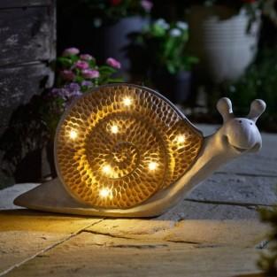 Solar Woodstone Inlit Snail