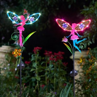 Solar Fairy Wings (Single Stake Light)