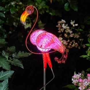 Solar Flamingo Stake Light