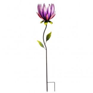 Purple Lotus Solar Stake Light