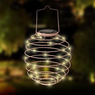 Solar Spiral Lantern - Pink