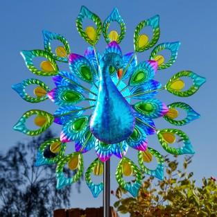 Solar Peacock Wind Spinner