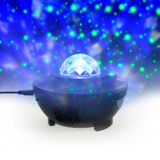Star Galaxy Wave Projector Speaker Light