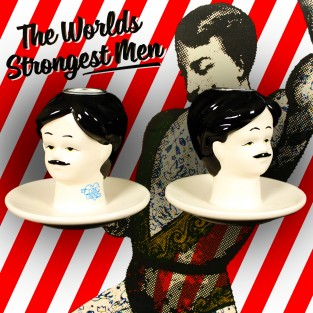 Strongman Candlestick Holders