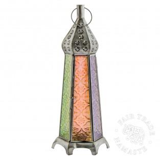 35cm Tall Colourful Moroccan Lantern (LT171)