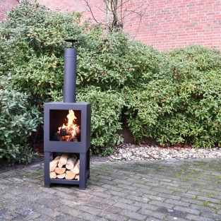 Terrace Heater with Woodstore 136cm FF410