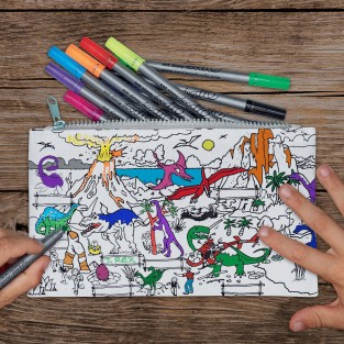 The Doodle Pencil Case - Dinosaur