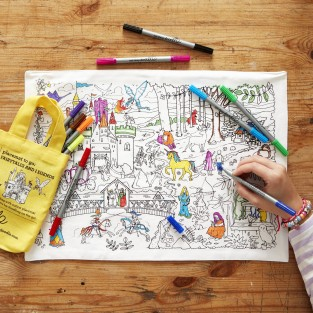 The Doodle Placemat To Go - Fairytales and Legends