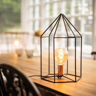 Triangle Cage Table Lamp