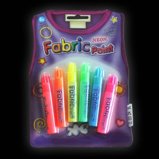 Neon Fabric Pens (6 Pack)