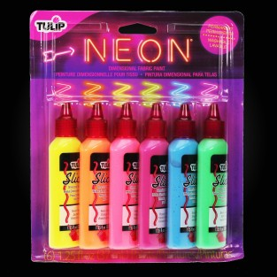 Tulip Neon Fabric Paint Set (6 Pack)