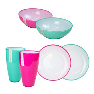 Two Tone Picnic Tableware