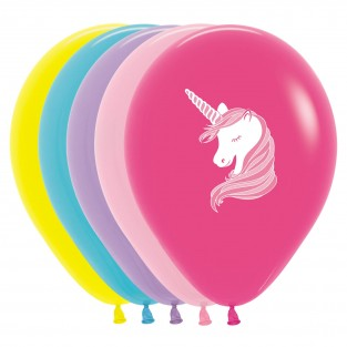 Multi Coloured Unicorn Balloons (25 pack)