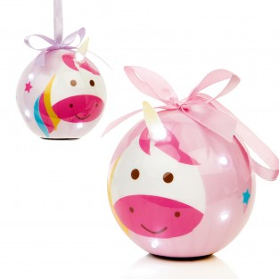 Light Up Unicorn Bauble