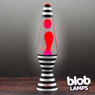 "'Bulls Eye' Lava Lamp 14.5"" Blob Lamp VINTAGE"