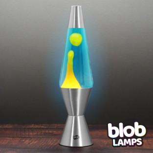 "VINTAGE Blob Lamp - Metal Lava Lamp 14.5"" - Orange/Blue"