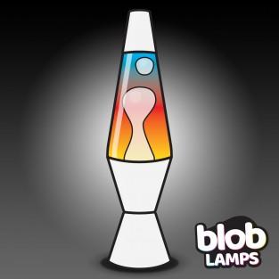 "VINTAGE Blob Lamp  - Matt White Rainbow Lava Lamp 14.5"""