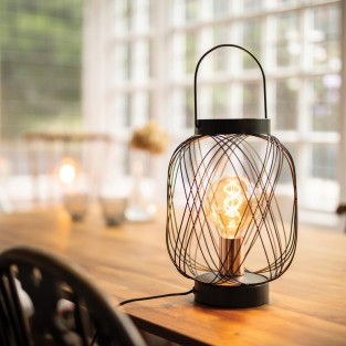 Wire Lantern Table Lamp