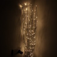 1.2M Holograph Glitter Twig Light 2 Silver