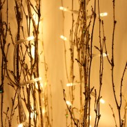1.2M Holograph Glitter Twig Light 3 Gold