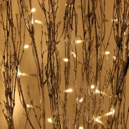 1.2M Holograph Glitter Twig Light 4 Silver