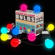 10 LED Battery Operated String of Light Bulbs 1