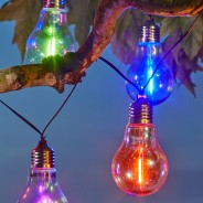 Solar Neonesque Light Bulb Fairy Lights 2