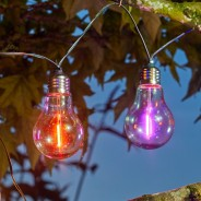 Solar Neonesque Light Bulb Fairy Lights 3