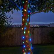 100 Solar Firefly String Lights 2 Multi Coloured