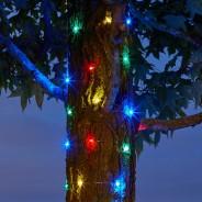 100 Solar Firefly String Lights 3 Multi Coloured