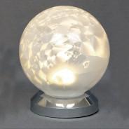 10cm White Glass Ball Light 2