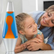 "14.5"" LAVA Brand Lava Lamp Orange/Blue 3"