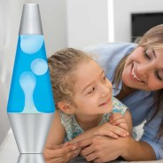 "14.5"" LAVA Brand Lava Lamp White/Blue 5"
