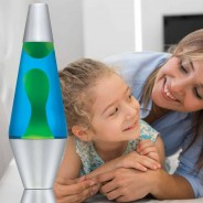 "14.5"" LAVA Brand Lava Lamp Yellow/Blue 3"